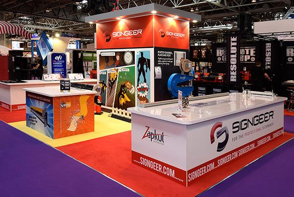 Exhibition Stand Games : Exhibition stand bright graphics design stand out graphics