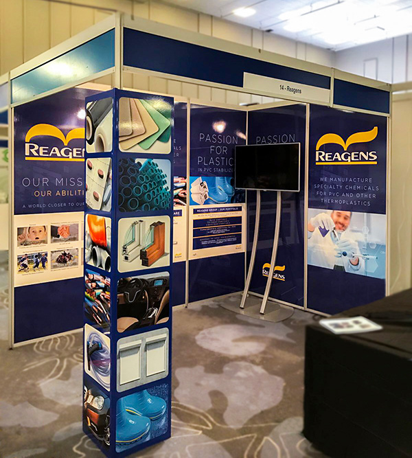 Exhibition Stand Panels : Shell scheme printing graphics for